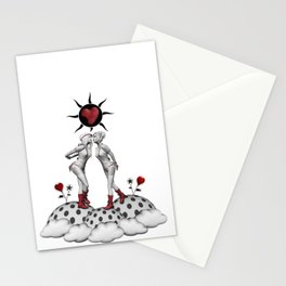 kiss and make up Stationery Cards