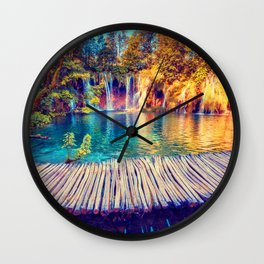 Wood Road Trip ||II|| Wall Clock