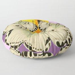 GOLDEN MOON MOTHS ON PUCE & PINK Floor Pillow