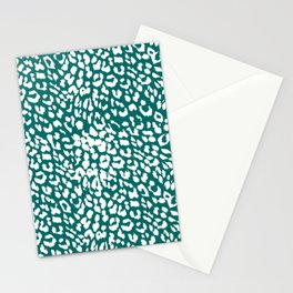 Leopard Quetzal Green Stationery Cards