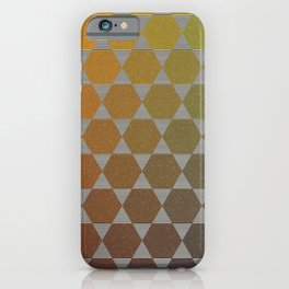Lichtenberg-Mayer Colour Triangle vintage remake, based on Mayers' original idea and illustration iPhone Case