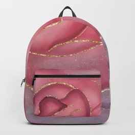 Gold Edged Rose Backpack