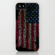 United States Flag Map With Major Cities iPhone (5, 5s) Slim Case