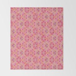 flowers or butterflies - uma releitura Throw Blanket