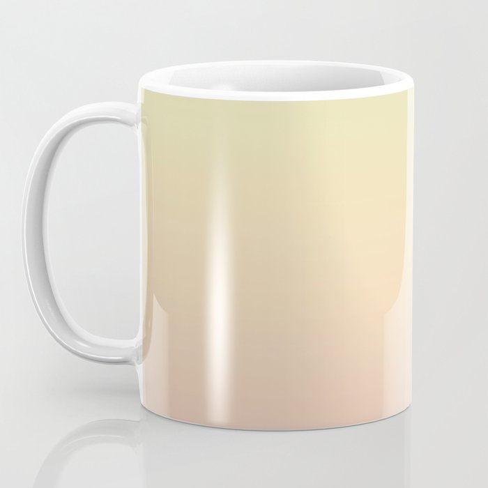 Green, yellow, pink, gradient . Ombre. Coffee Mug