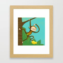 Monkey business Framed Art Print