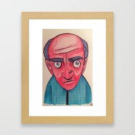 Redface Framed Art Print