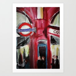 London Underground Covent Garden Art Print