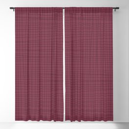 Red Plum and Black Blackout Curtain