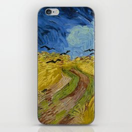 Wheatfield with Crows Painting by Vincent van Gogh iPhone Skin