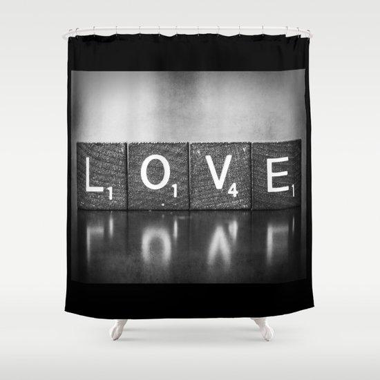 Love is a Beautiful Word - a fine art photograph Shower Curtain