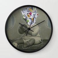 8bit Wall Clocks featuring 8bit Face by Naomi Vona