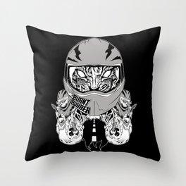 rubber burner rider Throw Pillow