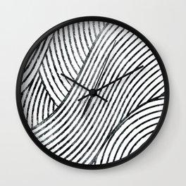 zen lines minimal pattern Wall Clock