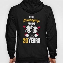 20th 20 year Wedding Anniversary Gift Monkeying Husband Wife product Hoody