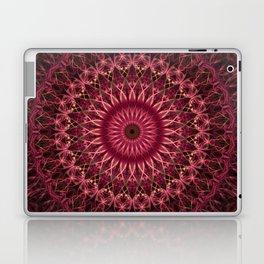 Dark red mandala Laptop & iPad Skin
