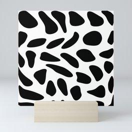 Black Pebbles Motif Mini Art Print
