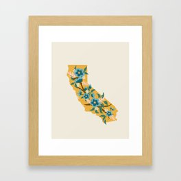 The Golden State of Flowers Framed Art Print