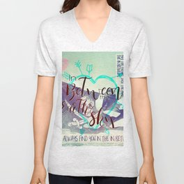 In Between artwork Unisex V-Neck