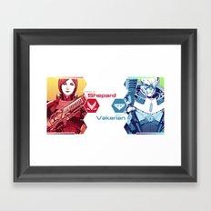 Mass Effect : Shep & Garrus Framed Art Print