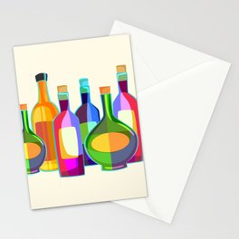 Colored Glass Bottles Stationery Cards
