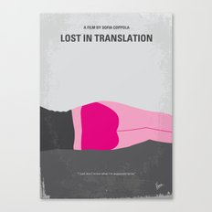No287 My Lost in Translation minimal movie poster Canvas Print