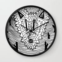 coyote Wall Clocks featuring Coyote by Catolyn