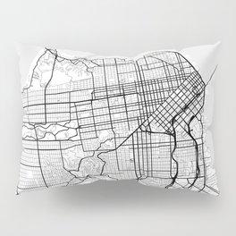 Scandinavian map of San Francisco Penninsula Pillow Sham