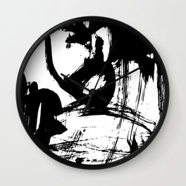 Brushstrokes No.12A by Kathy Morton Stanion Wall Clock