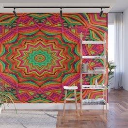 3D color kaleidoscope plus Wall Mural