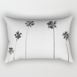 Black & White Palms Rechteckiges Kissen