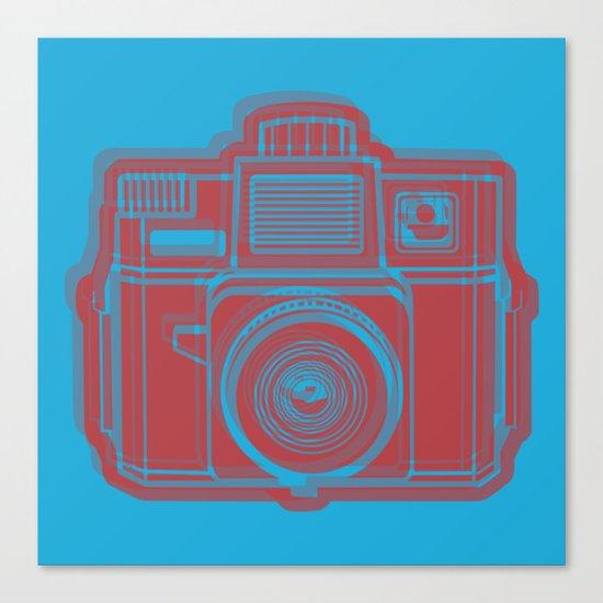 I Still Shoot Film Holga Logo - Blue & Red Canvas Print