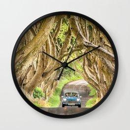 Mini Dash,Dark Hedges,Ireland,Northern Ireland,Landscape Wall Clock