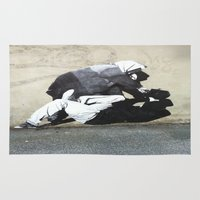banksy Area & Throw Rugs featuring BANKSY  by Art Ground