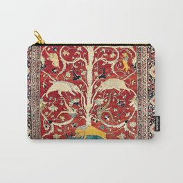Silk Heriz Azerbaijan Northwest Persian Rug Print Carry-All Pouch