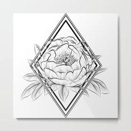 paeony With rhombus  Metal Print