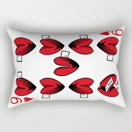 Delicious Deck: The Nine of Hearts Rectangular Pillow