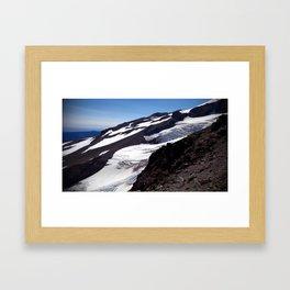 (#101) River of Ice Framed Art Print