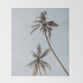 two palm trees Throw Blanket