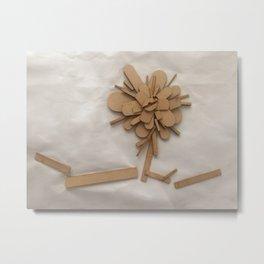 Wood Flower Metal Print