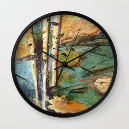 Birch in the Spring Wall Clock