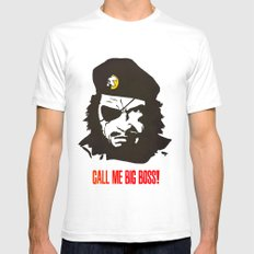 Call Me Big Boss White SMALL Mens Fitted Tee
