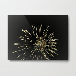 A Work of Fire Metal Print