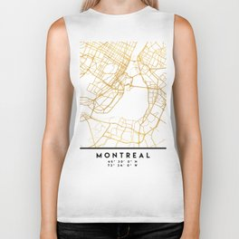 MONTREAL CANADA CITY STREET MAP ART Biker Tank