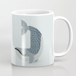 Whimsical Blue Whale Coffee Mug
