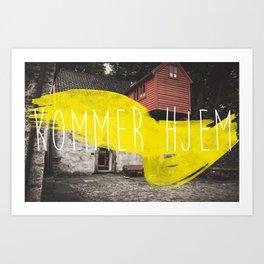 Komme Hjelm Art Print