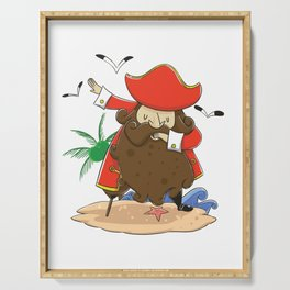 Funny Pirate dabbing product - perfect gift Serving Tray