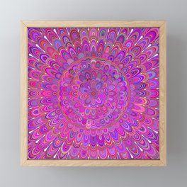 Happy Purple and Pink Mandala Framed Mini Art Print