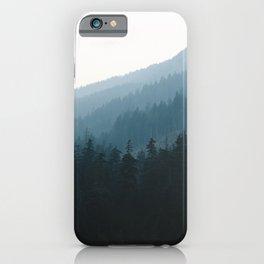 Hazy British Columbia Mountains iPhone Case