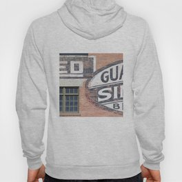 Red brick logos East Village Hoody